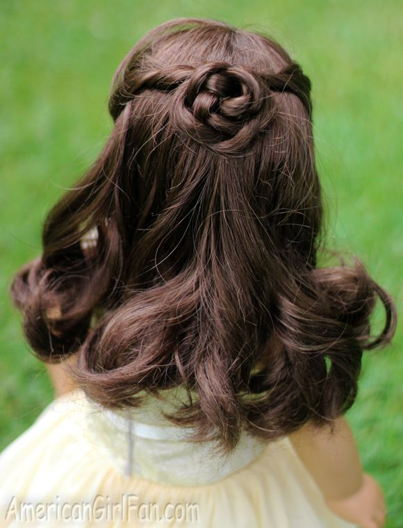 american doll hair style half up braided bun doll hairstyle click through for 5518
