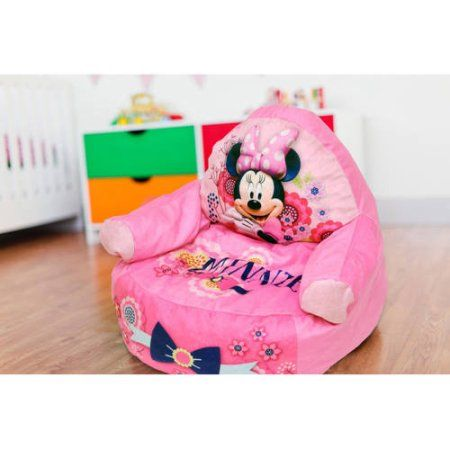 Astounding Minnie Mouse Character Figural Toddler Bean Chair Pink Inzonedesignstudio Interior Chair Design Inzonedesignstudiocom
