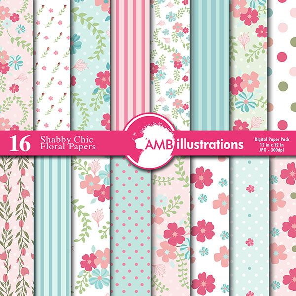 Floral Shabby chic Papers