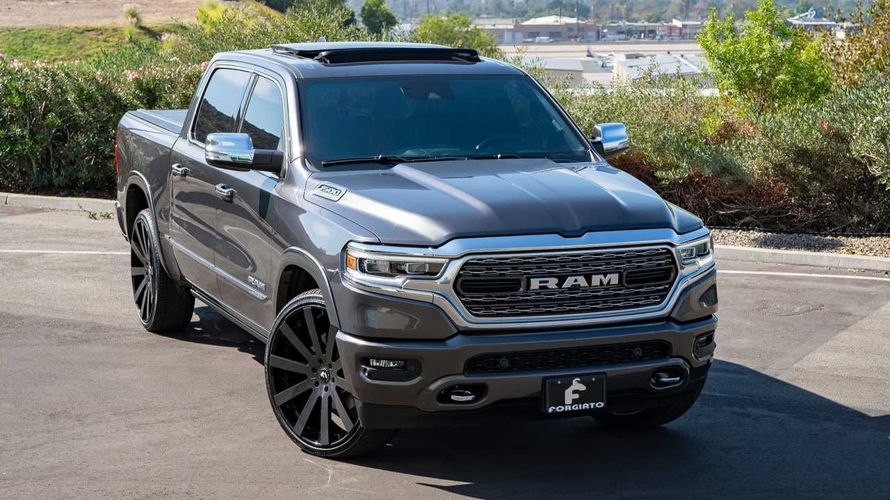 shaq s new ram 1500 wears massive 26 inch forgiato wheels ram 1500 ram trucks lifted dodge trucks ram pinterest