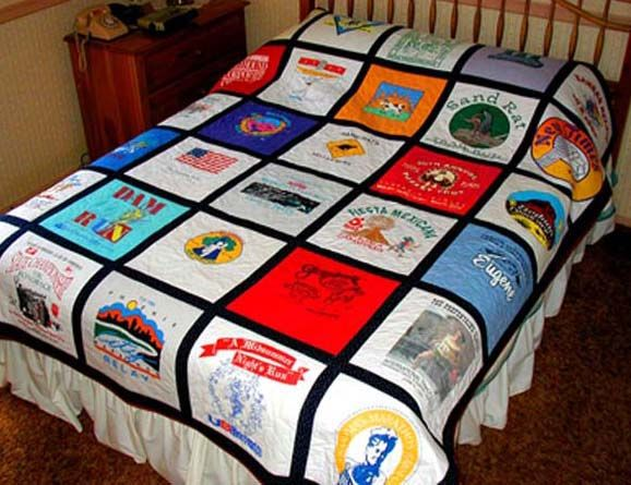 My son has been saving his favorite t-shirts for years--and only told me a few years ago that he's hoping I can make him a quilt...pressure's on.