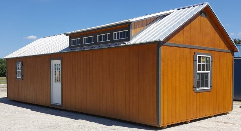 Gable Dormer Cabin Portable Storage Buildings Portable Buildings Built In Storage