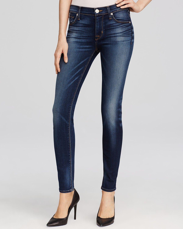 c36eea11cd3 Hudson delivers a dark-wash, super skinny jean featuring their soft new  denim, Elysian. Handcrafted from rich yarns enhanced by a modal fiber, ...