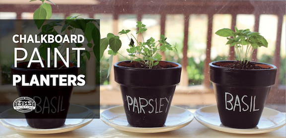Dress up your home's exterior with this fun and easy craft! Using chalkboard paint on the outside of a plain terra cotta planter, you can create something truly stylish and unique for your home.