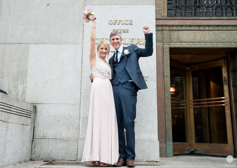 Laura And Paul Nyc Courthouse Wedding Manhattan Marriage Bureau