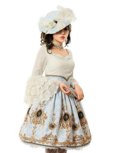 Ten O'clock Cinderella Rococo Lolita Elegant Chiffon Tiered Lace Cuffs Blouse (Medium, White)