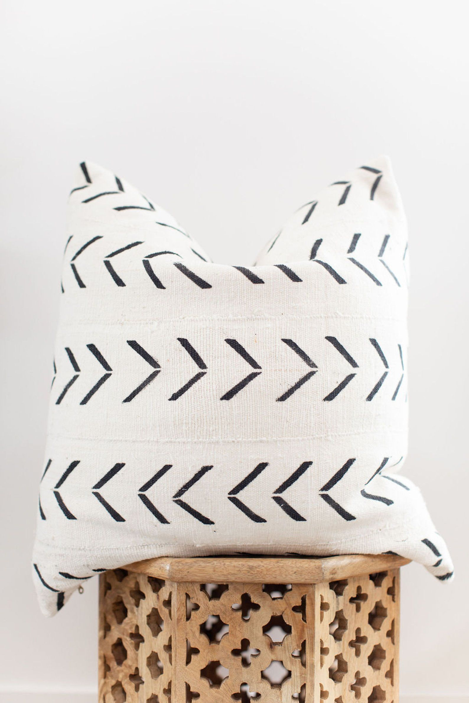 24X24 Authentic African Mudcloth Pillow