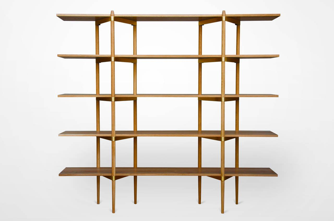 Primo 2 5 Ash With Stainless For Sale At 1stdibs Shelves Vintage Bookcase Shelving Systems