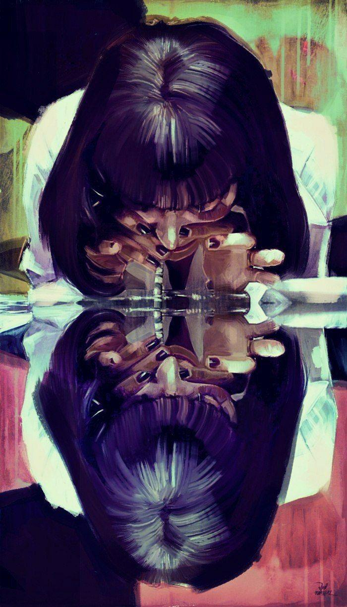 Mia Wallace Pulp Fiction Art