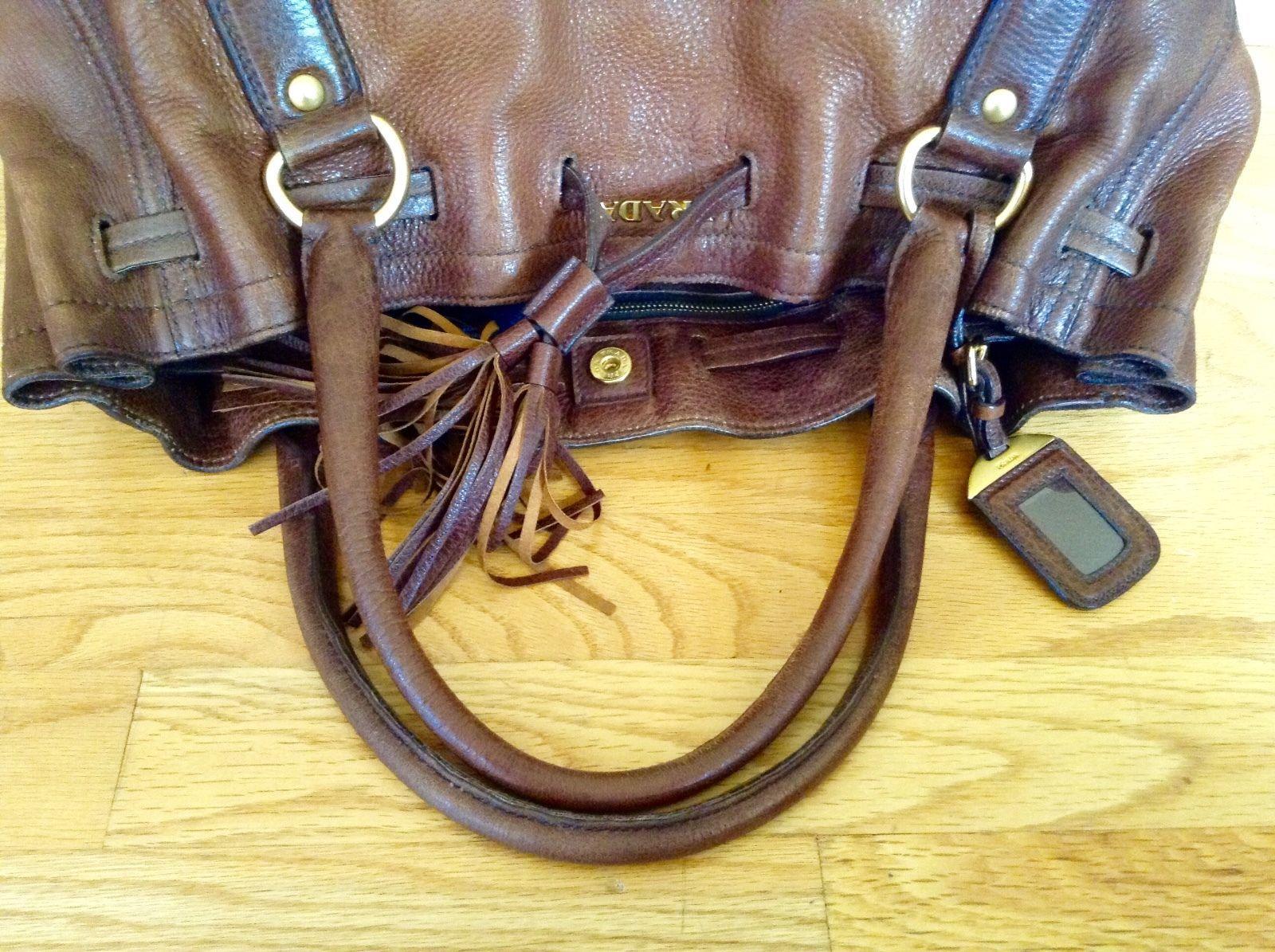 c5993c8a4422 ... coupon for auth prada cervo antik gradient brown deerskin jumbo  shopping tote shoulder bag 548.0 c137f ...