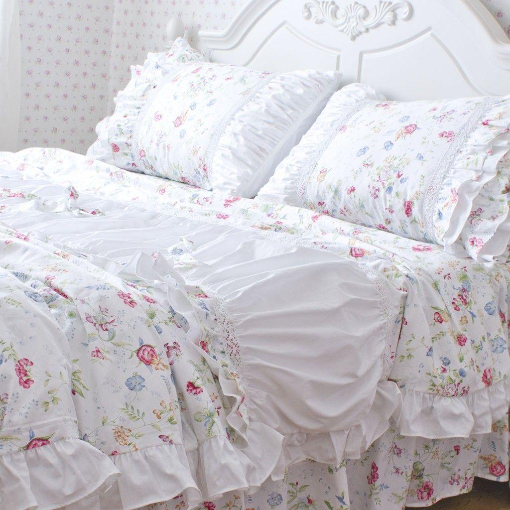 Nostalgia Ruffle Duvet Cover Set Lace bedding, Target