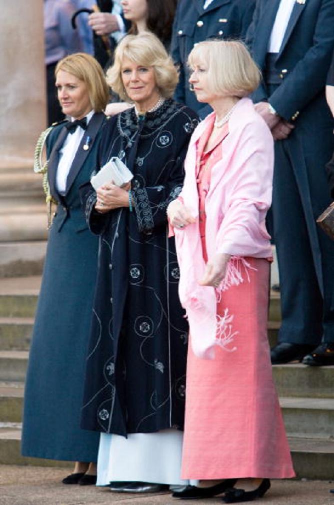 Camilla, Duchess of Cornwall, wearing a coat and dress