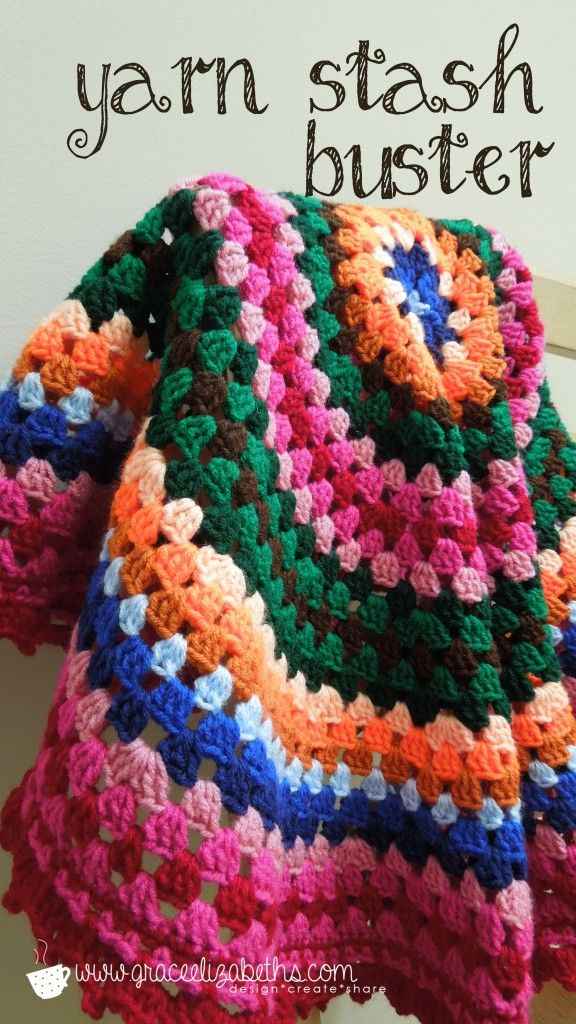 Yarn Stash Buster Easy Crochet Circle Baby Blanket With