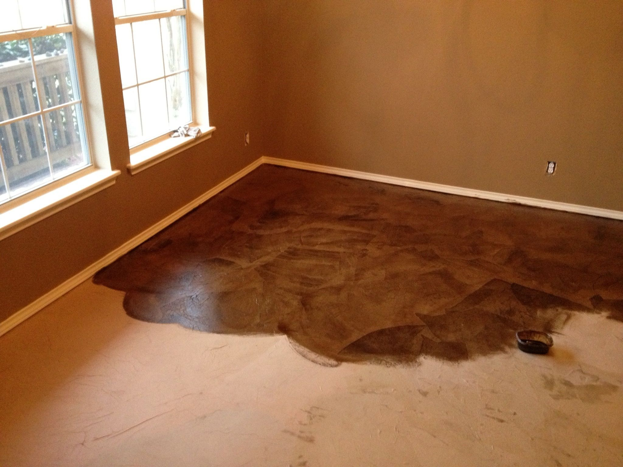 Attractive DIY PAPER BAG FLOORS THAT LOOK LIKE STAINED CONCRETE