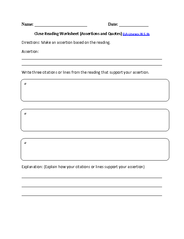 5th Grade Common Core Writing Worksheets Englishlinx Board