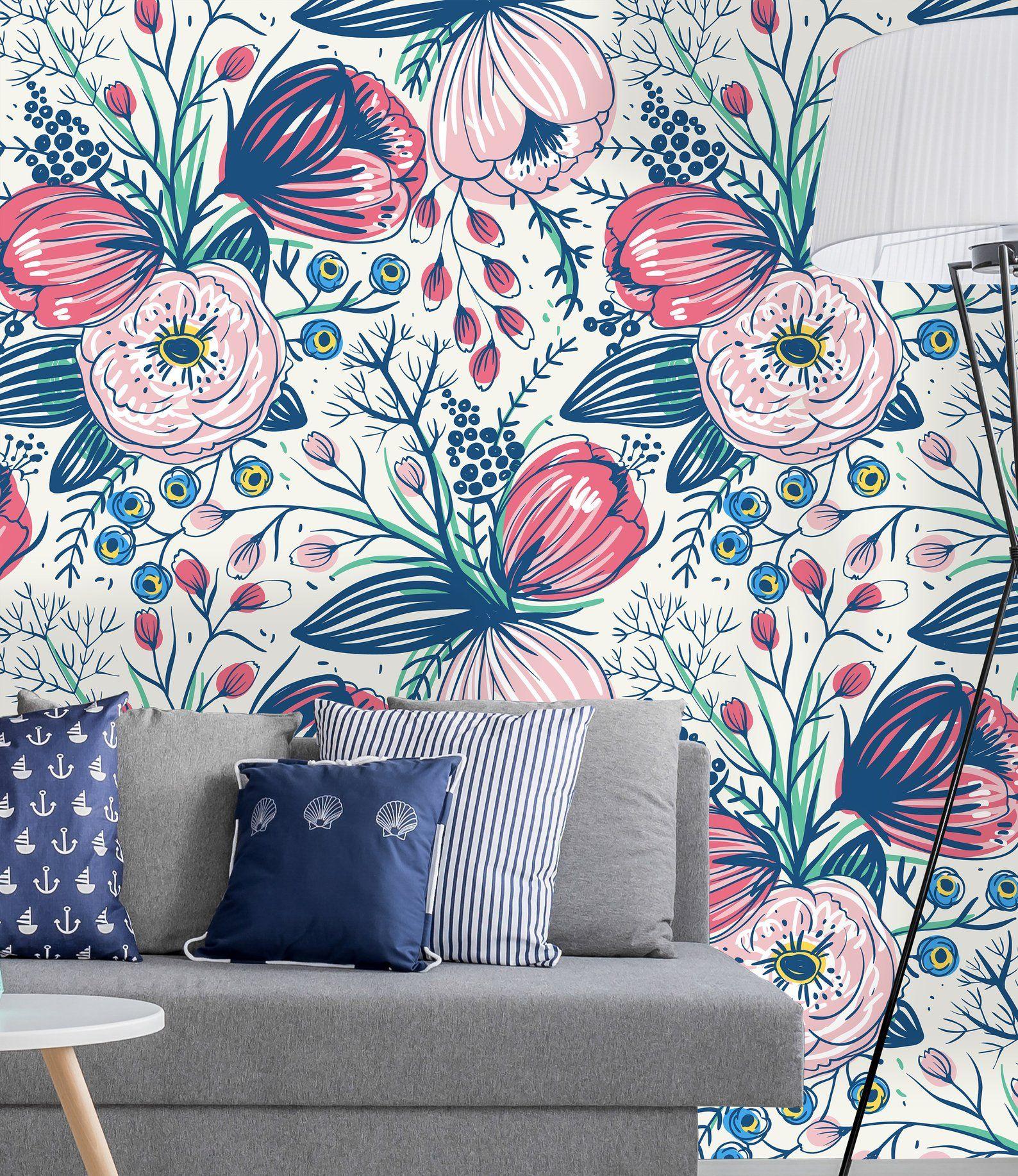 Fond Decran Amovible Auto Adhesif Wallpaper Peler Et Coller Etsy Wallpaper Roll Decor Mural Wallpaper