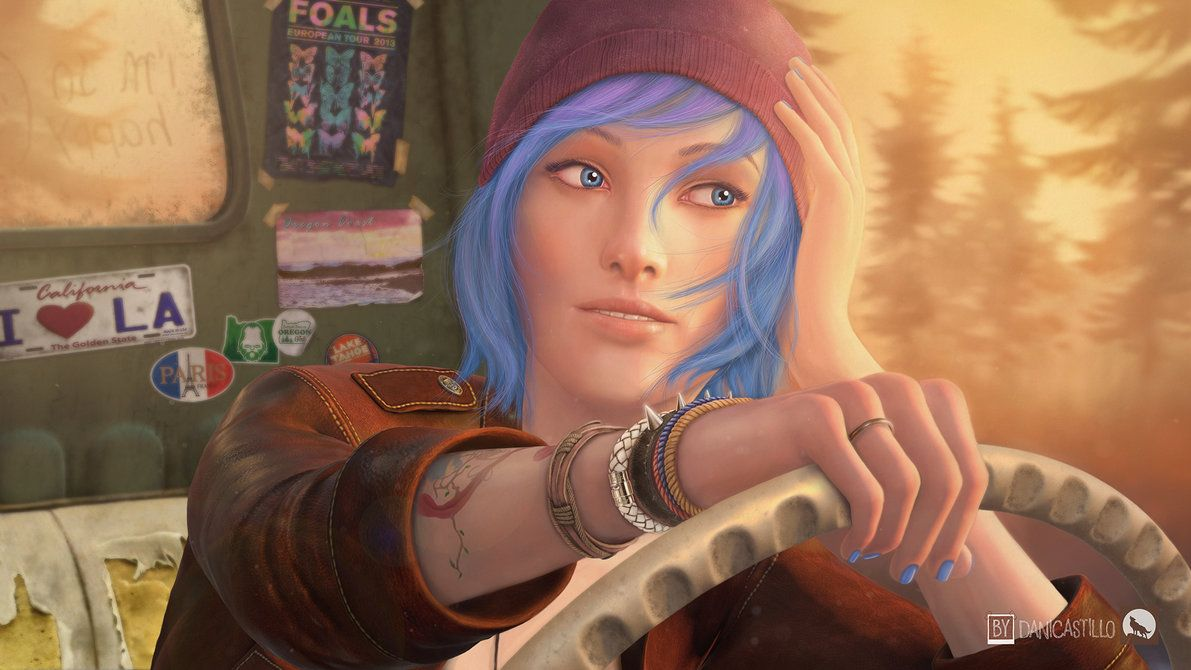 As soon as I finished Life is Strange, I wanted badly to make some game art about Chloe. I think that she deverses that and more, thus, I made this piece of art work almost entirely in Photoshop.