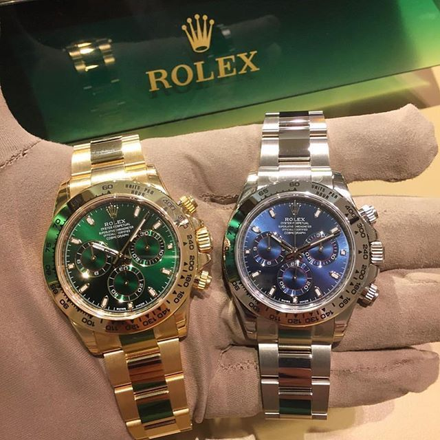 All The Beauty Of Rolex Daytona In Its Two Gold Variant Yellow White Which Is Your Favorite I Love Yellow Go Rolex Daytona Rolex Watches For Men