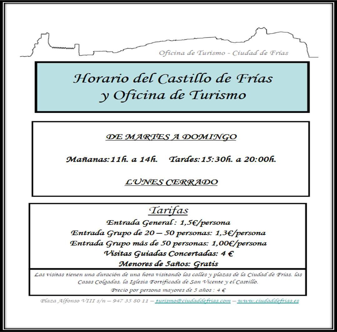Horario de apertura de la oficina de turismo de fr as y for Horario apertura oficinas la caixa