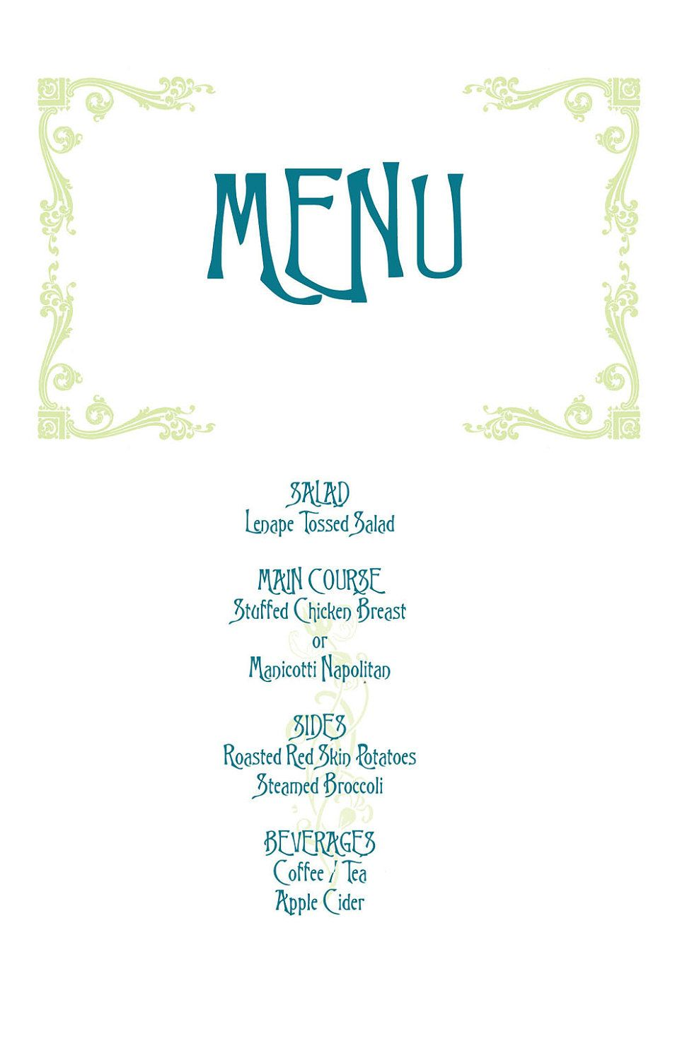 simplicity wedding menu template do it myself ideas menu