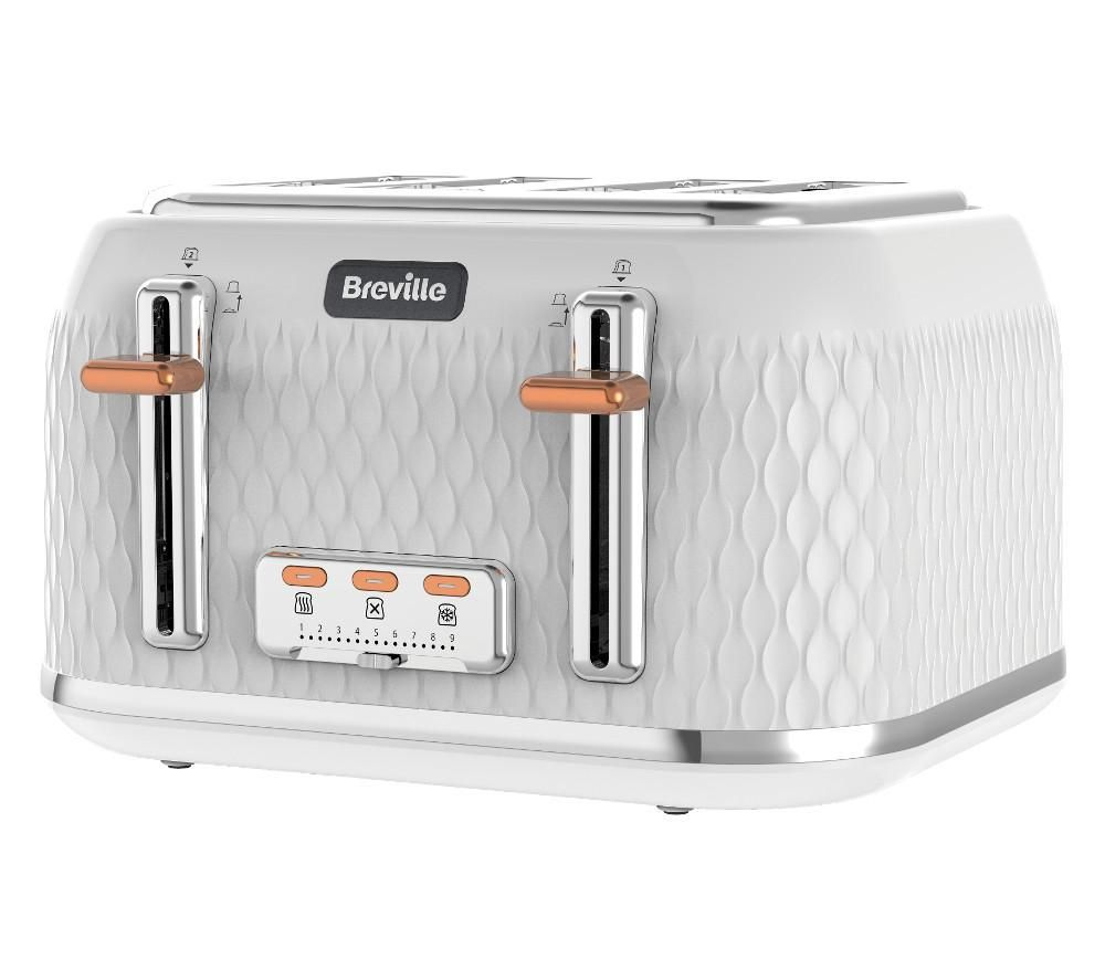 BREVILLE Curve VTT787 4-Slice Toaster - White | Toasters, Kitchen ...