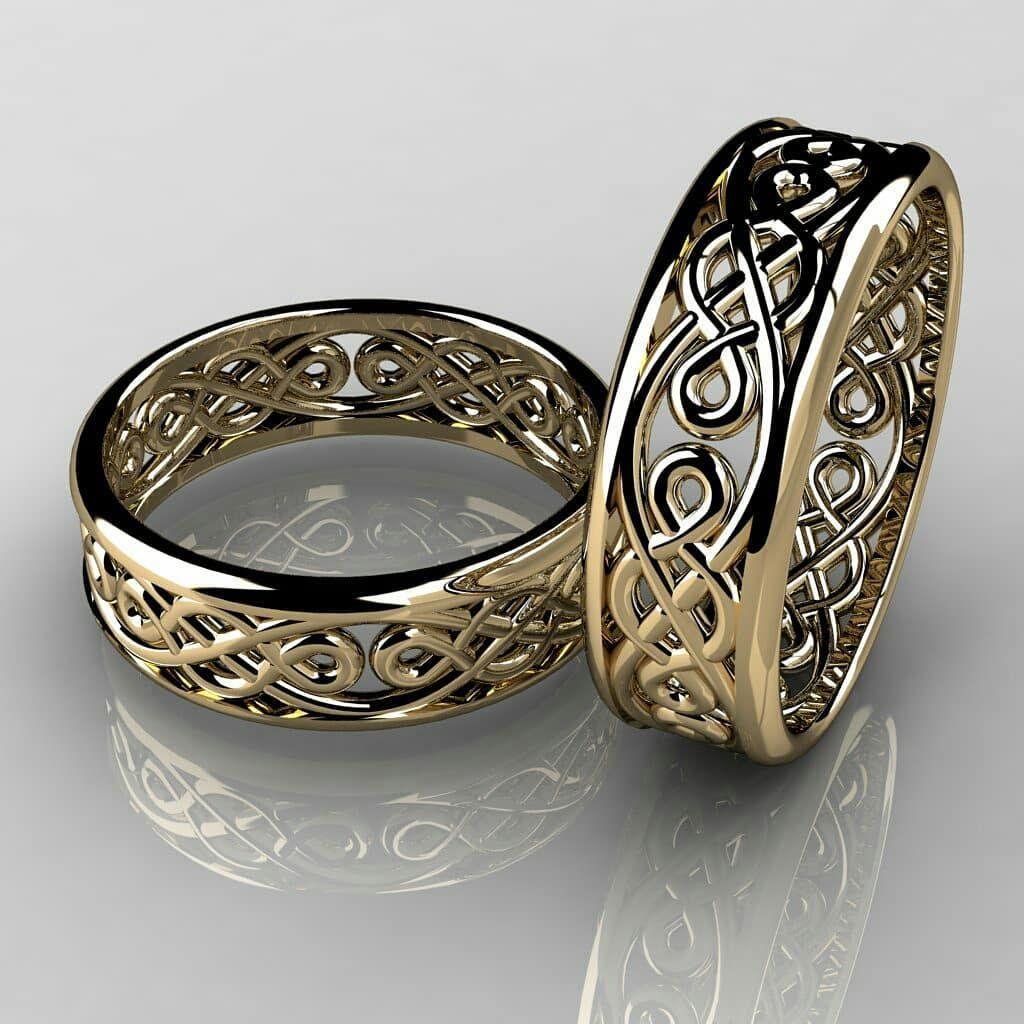 d3c8881e59a Feito sob medida com exclusividade para  duartekarolina e  lcsbrow Extremo  bom gosto!  aliancacelta  alianças  joias  jewels  3d  render  gold18k   celta