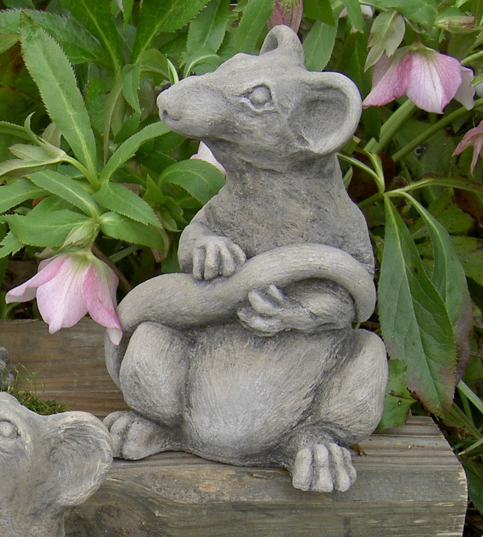 Ratsmore Rat Decorative Garden Sculpture The Ratsmore Rat Decorative Garden  Sculpture Is Made Of Weather Resistant Cement Which Can Be Used Indoors Or  Out.