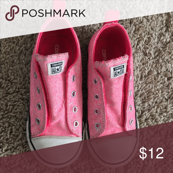 c121a7826c8f Converse girls shoes size 10 Hot pink converse. Gently used. Velcro. Converse  Shoes Sneakers