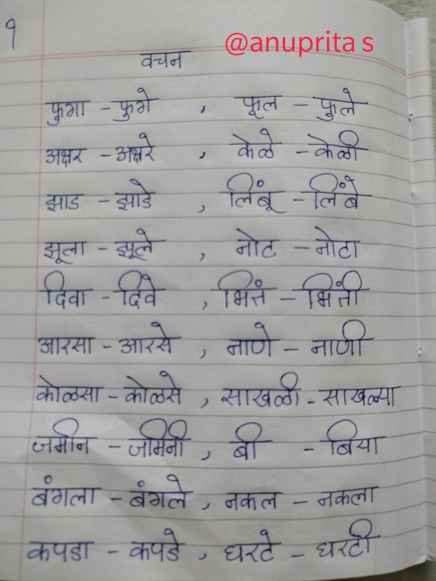 Marathi Grammar Vachan Badla Singular Plural By Anuprita Shinde Learning English For Kids Singular And Plural Hindi Worksheets [ 1152 x 864 Pixel ]