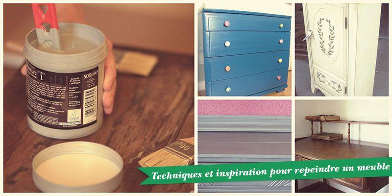 repeindre un meuble DIY Déco Pinterest - meuble en bois repeint