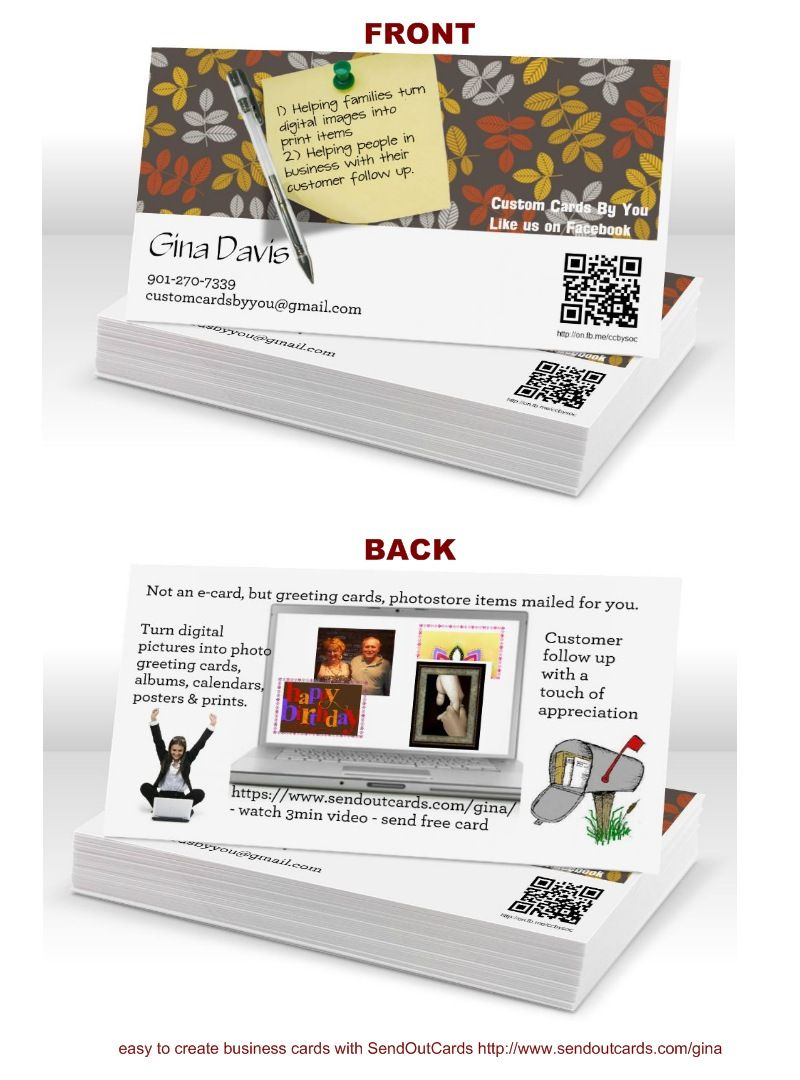 create your own Business cards in SendOutCards SOC PhotoStore from ...