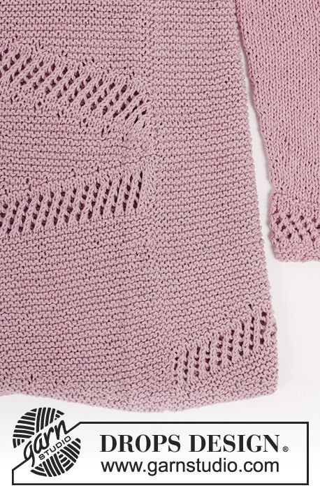 0d8b9746f984 Jumper with short rows and lace pattern