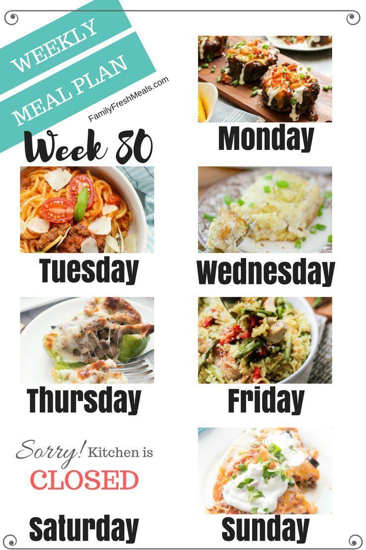 Easy Weekly Meal Plan Week 80
