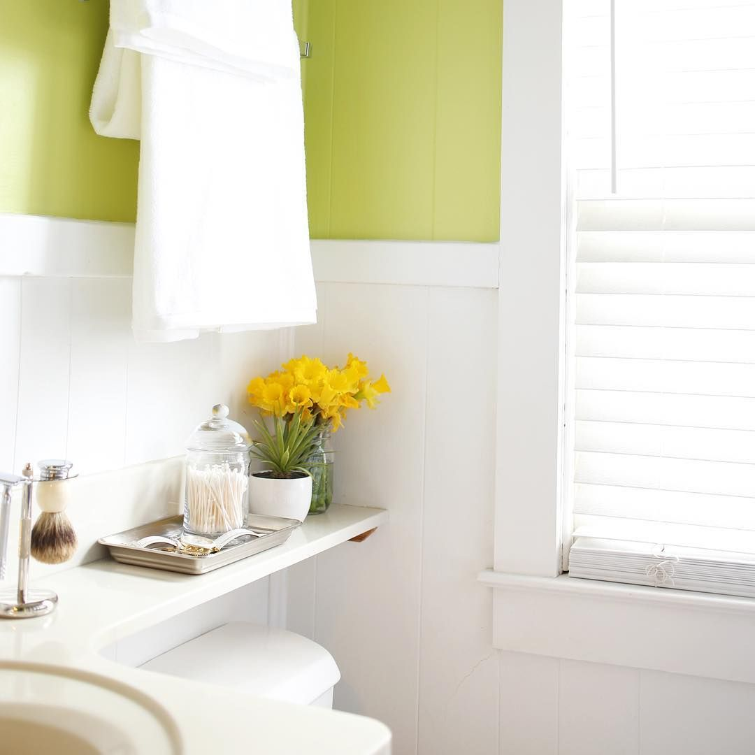 The Sweetest Occasion on Instagram: I gave our bathroom a fun little makeover for spring with...