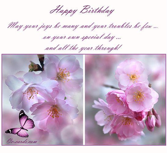 Fresh Flowers To Wish Happy Bday Free Flowers eCards Greeting – 123 Birthday Greeting