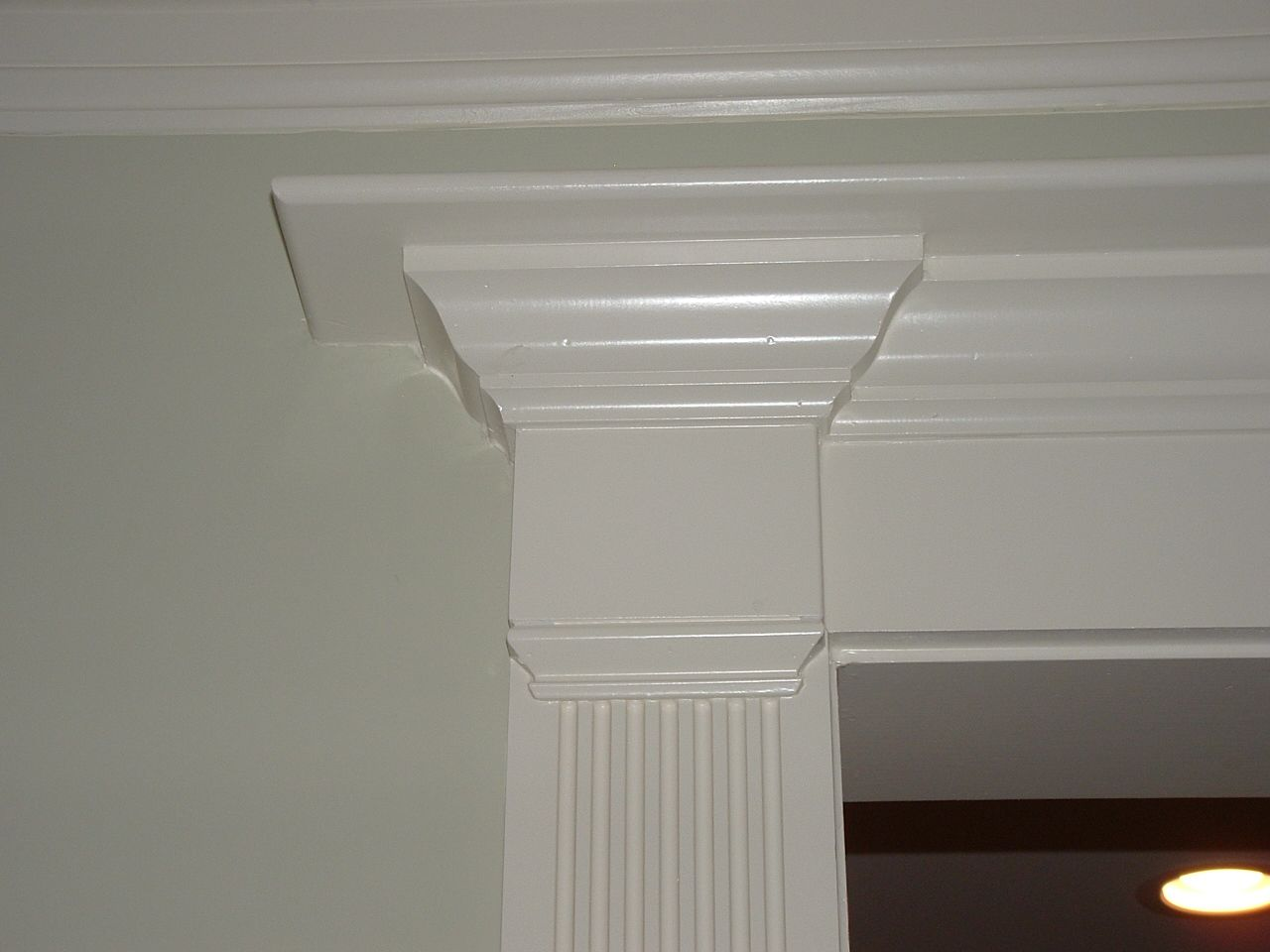 Fluted Casing House Trim Kitchen Near Window Crown Molding