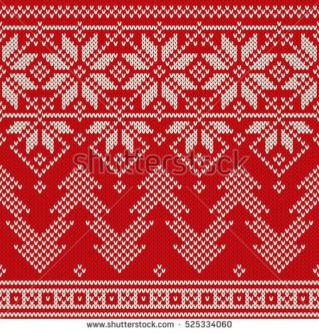 Winter Holiday Seamless Knitted Pattern with a Christmas ...