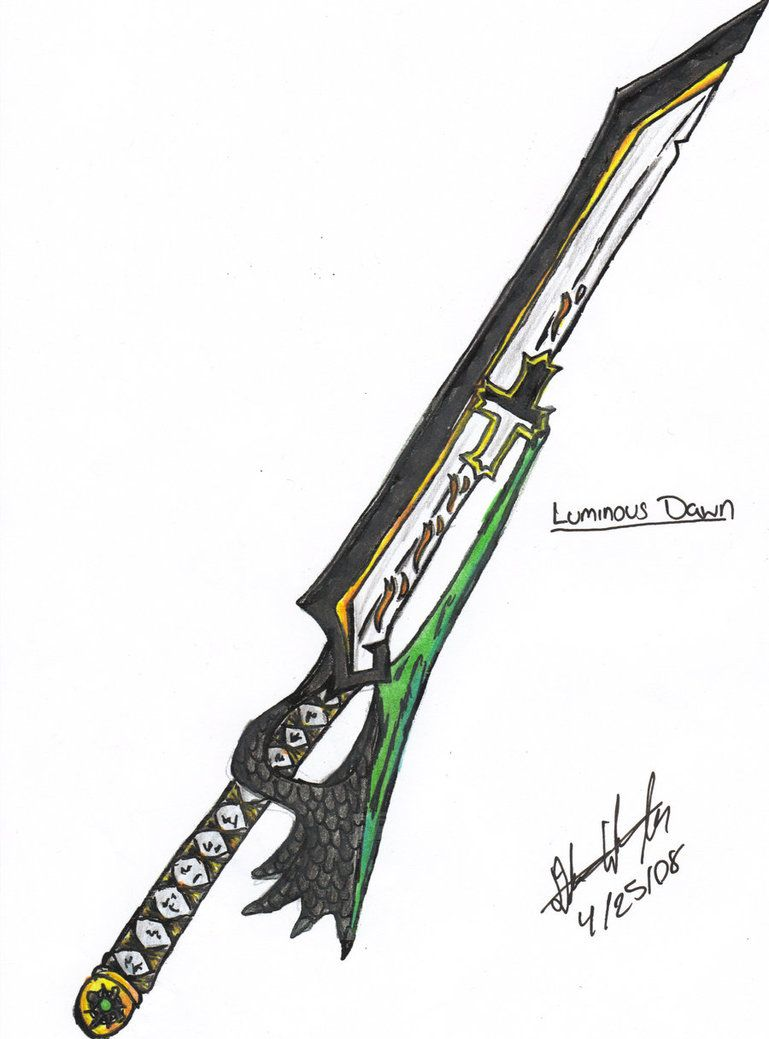 Weekly Drawing Legendary Sword By Lockheart23 Cool Sword border=