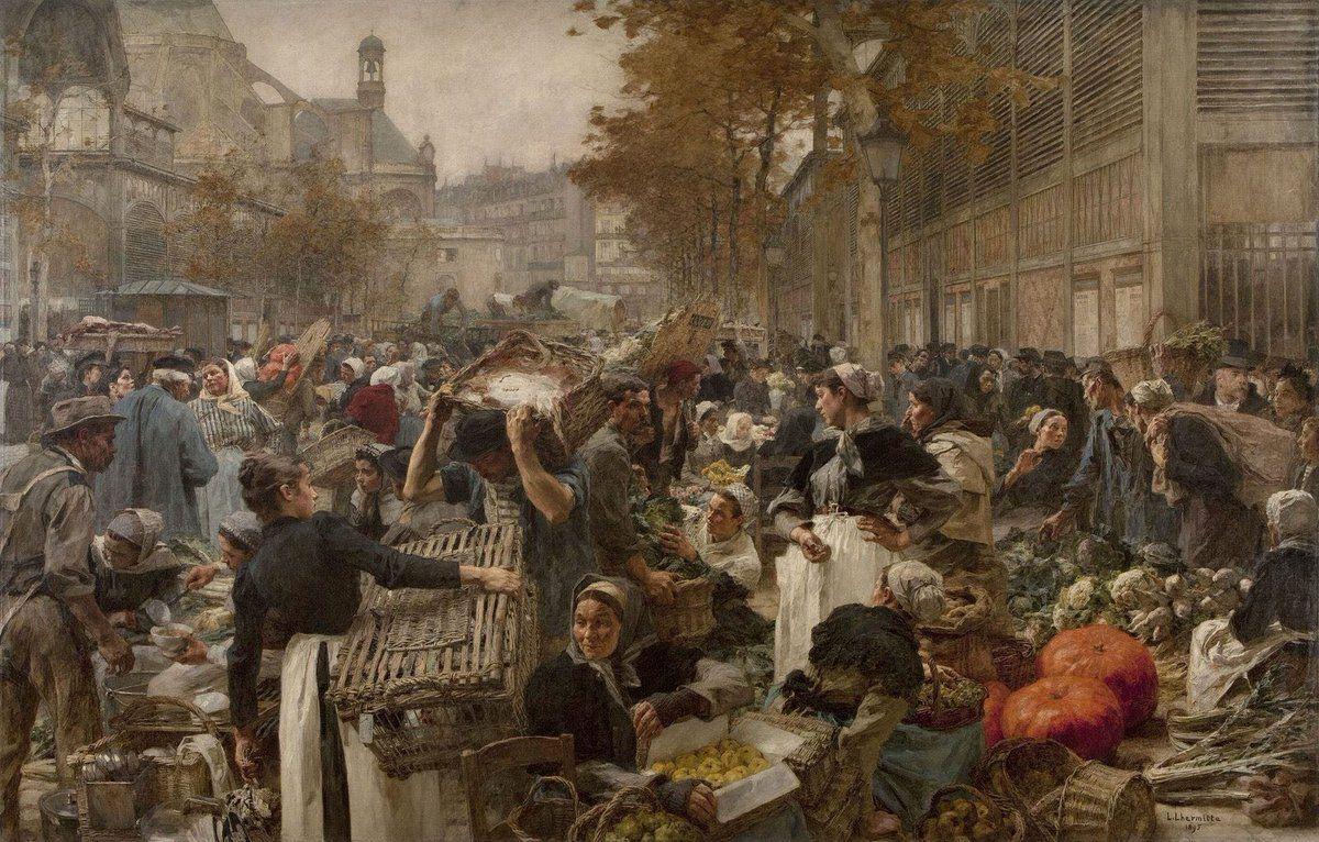 #Realism Léon Augustin #Lhermitte Les Halles,1895