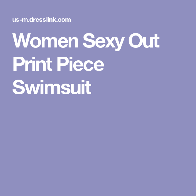 Women Sexy Out Print Piece Swimsuit