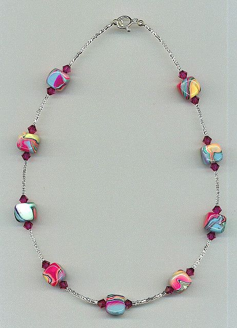 Cube bead necklace
