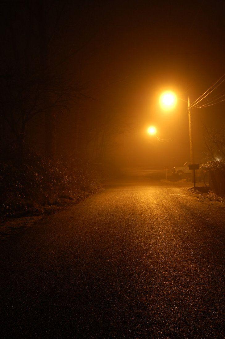 Fog On Street With Streetlamp By Happeningstock On Deviantart Dark Photography Night Aesthetic Night Photography Dark street night fog light mist