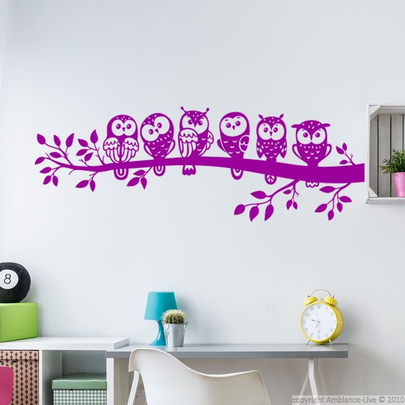 Ambiance Wall Stickers sticker la famille hiboux | pinterest | wall decals and walls
