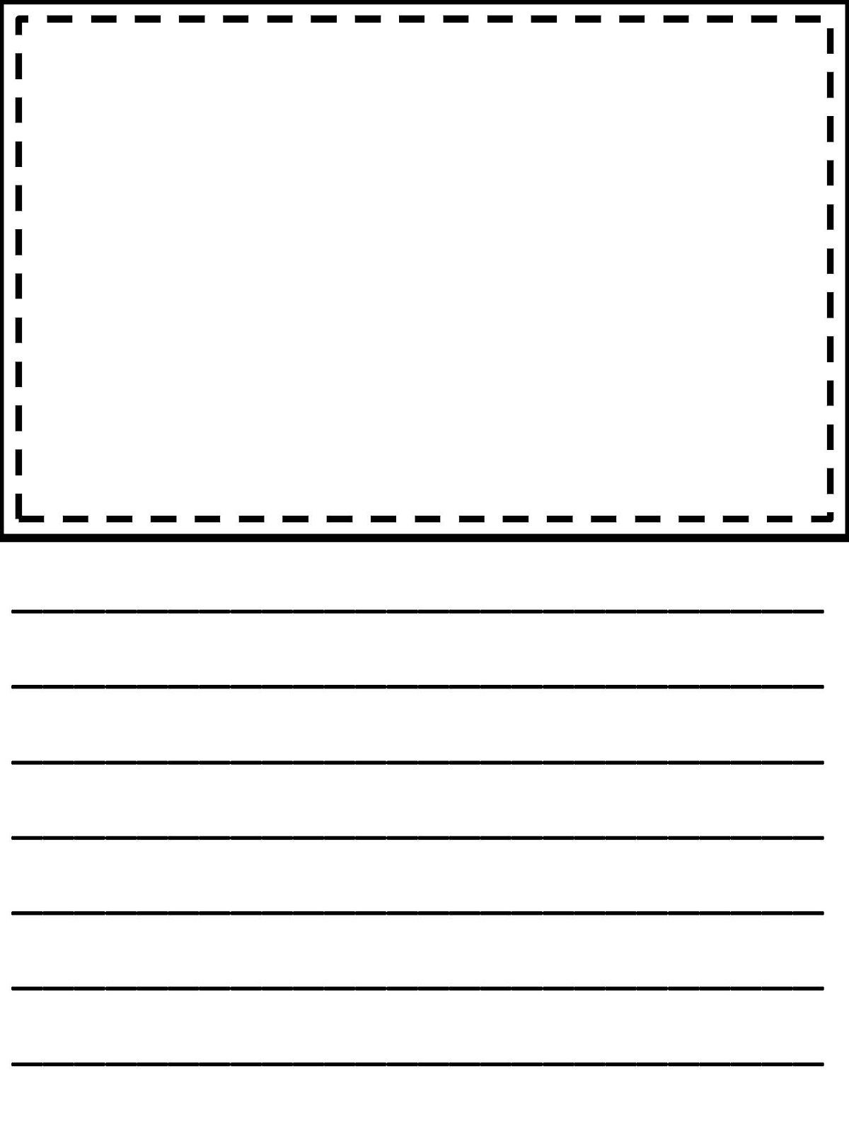 37 Printable Lined Paper Template For Kids Download