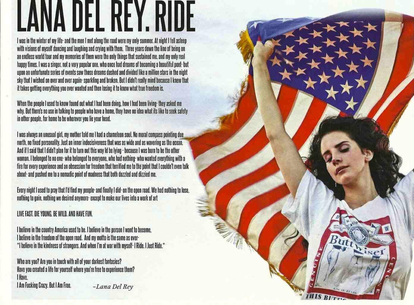 Ride Monologue By Lana Del Rey Lanadelrey Ride Eai My Idol