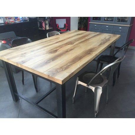 Meuble Industriel Table De Salle A Manger Avec Tiroir Mobilier En