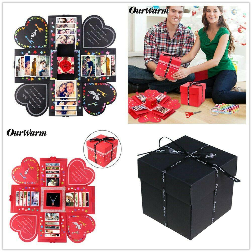 Surprise Explosion Box Album Memory Scrapbook PhotoAlbum Kits Anniversary GiftS