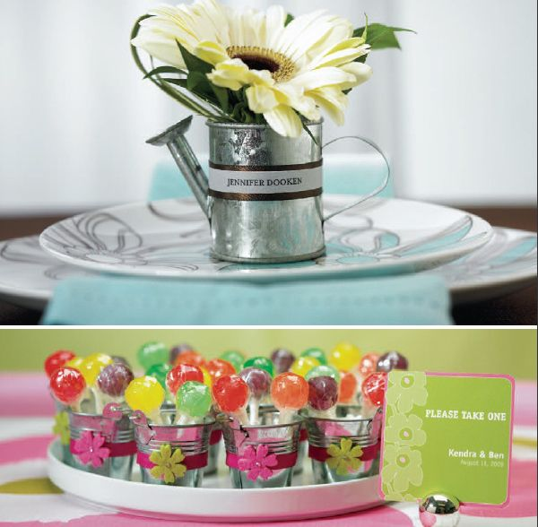 Do It Yourself Wedding Ideas: DIY Tin Pail Wedding Favor Ideas