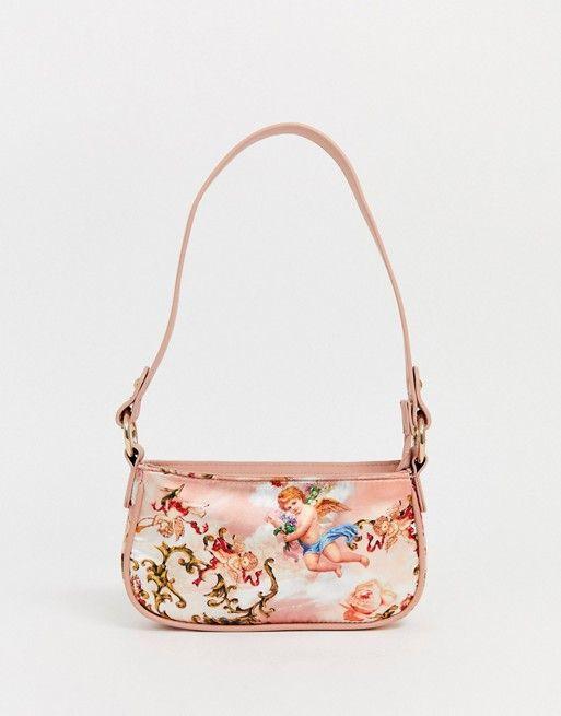 ASOS DESIGN 90s shoulder bag in cupid print   ASOS