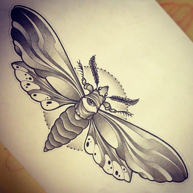 beb34825c moth tattoo..thinking of adding triangle to eye region